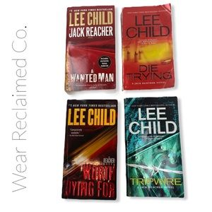 Bundle of 4 LEE CHILD Crime Fiction Novels